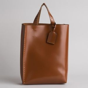Shopper style  Tote in Saddle